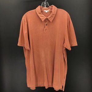 Standard James Perse Mens Polo Shirt Orange Sz 3